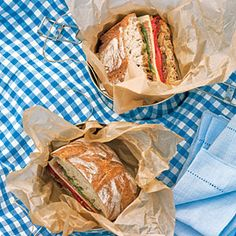 Fast & Fresh brown-bag lunches | Radicchio, Roasted Pepper, and Provolone Ciabatta Sandwiches | Sunset.com