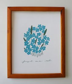 Forget Me Not by lisaruppdesign on Etsy, $15.00