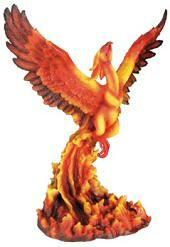 Large Fantasy & LED Dragon Figurines - Phoenix Rising Figurine -
