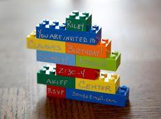 Lego Party Invitation.