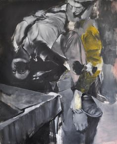 Razvan Boar, Rumors to the contrary, 2011#oil on canvas#44 x 58.5 in via   www.anacristeagallery.com