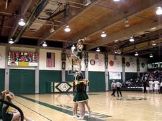 Cheer Stunt: Spinning Leap Frog  THIS IS IMPRESSIVE~