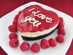 Mini heart shape raspberry white chocolate cheesecake