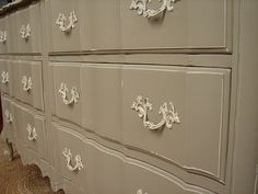 Distressed Vintage Reclaimed French Provential Dresser. This is my old dresser!