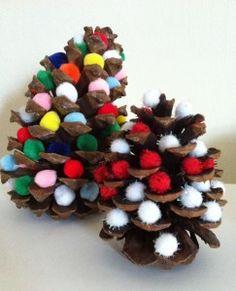 pinecones & pom poms
