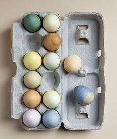 all natural Easter egg dyes.