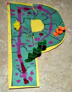 Kids Alphabet Letter P for Puzzle Craft and The LETTER P SONG for kids!