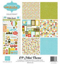 mini theme, ride collect, echo park, parks, park paper, minis, papers, enjoy, collect kit