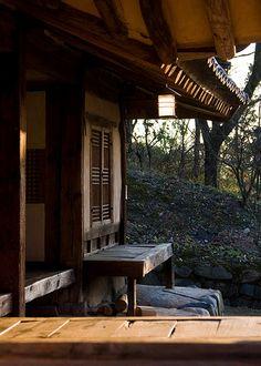 .Old School Porch, Traditional Village  Gyeongju Province. Korea.