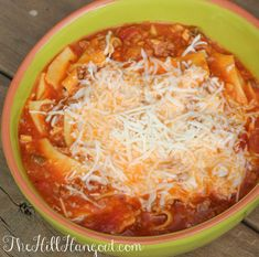 Lasagna Soup from TheHillHangout.com is crowd-pleasing and family-friendly!