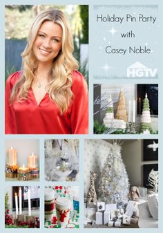 Ten minutes until our Holiday Pin Party with HGTV's Casey Noble (8pmEST)!  To join the party, follow the board at http://www.pinterest.com/hgtv/holiday-pin-party/ and use hashtag #HolidayHouse.  Important:  Remember to refresh your browser often to see the latest pins.