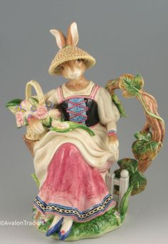 Old World Rabbits Tea Pot