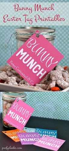 Bunny Munch Tag Printable
