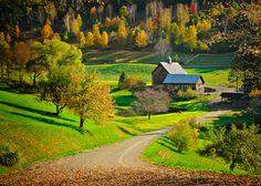 Sleepy hollow farm in Vermont, USA