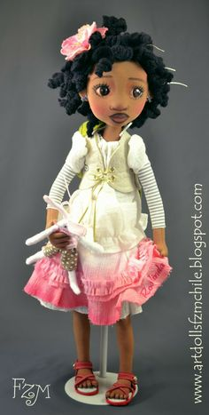 repeating pattern dolls flowers
