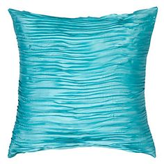 A seasonal favorite! Pre-order our cheerful Aquamarine Fray Pillow, $49.95