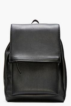 Marni Black Leather Backpack