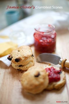 Jamie Oliver's Crumbliest Scones: The recipe was very easy and straight forward. They are crumbly, and taste so good when they were hot off the oven. I served them with some homemade strawberry jam and butter. However, for the best testing and most traditional scones, serve them with clotted cream.  This crumbliest scone recipe is a keeper and now you can throw your own English afternoon tea party!