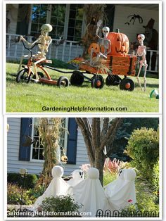 Decorating Your Yard for Halloween For years now I have decorated with the ghosts around the tree and people love it