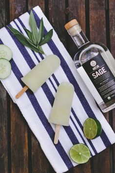 SAGE Cucumber and Basil Boozy Popsicles