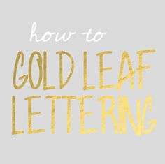 how to gold leaf lettering on the computer
