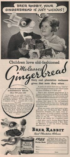 Vintage Brer Rabbit Molasses Gingerbread Recipe - Brer Rabbit keeps the tradition alive. brerrabbit.com #gingerbread #vintage #recipe