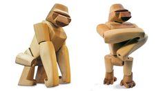 Wooden Gorilla (Hanno) by David Weeks