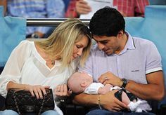 Luis Suarez Wife Sofia and Daughter