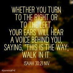 Isaiah 30:21 NIV