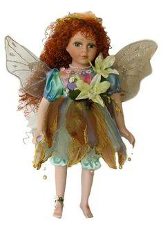 Fairy Porcelain Dolls-Fairy Dolls-Angel Porcelain Dolls-FAIRY Porcelain Doll By Cathay Collection-Kaitei