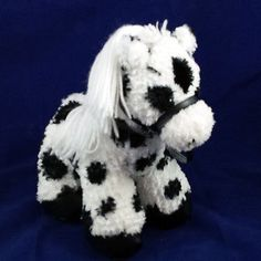 First-Main-Pony-Horse-4175-Black-and-White-Spotted-Plush-Stuffed-Animal-9