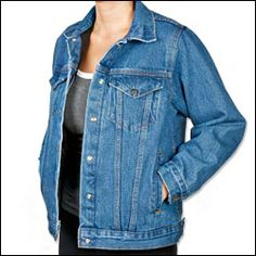 Women's Concealed Carry Denim Jacket