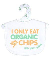 Fair trade organic cotton slogan bib