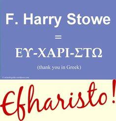 efharisto = thank yo...