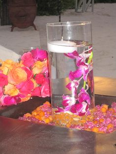 Glass Cylinders as Centerpieces