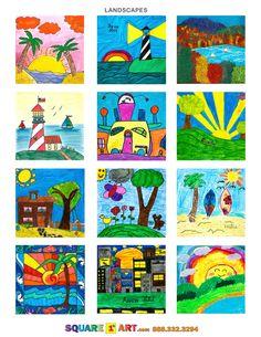 LANDSCAPES ART IDEAS  www.square1art.com