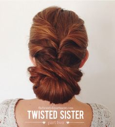 Twisted Sister updo - says it will work on fine hair so I might try it when I need something nicer than just a ponytail