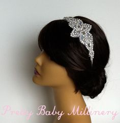 1920s Flapper Art Deco Bridal Crystal by PrettyBabyMillinery, $70.00