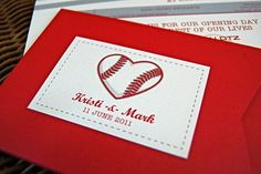 Love and Baseball Ticket Style Wedding Invitations