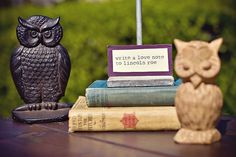 vintage owl chic baby shower <3