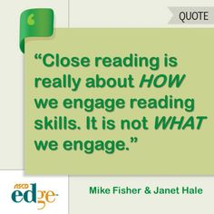 The authors of this blog post discuss what is at the heart of the close reading standard.