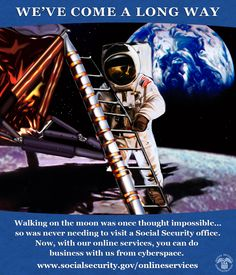 Like #MoonLanding, avoiding lines was thought impossible. Now, everyone is first in cyberspace www.socialsecurity.gov/onlineservices