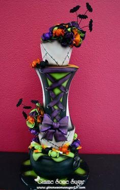 corset cake, beauti cake, cake decor, amaz cake, halloween cakes