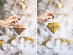 ornament diy, diy crafts, diamonds, craft decor, diamond ornament