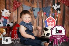 Congratulations to T&T Photography for being awarded our Photographer of the Week! This fun barnyard themed session features our Rugged Wood Planks backdrop.