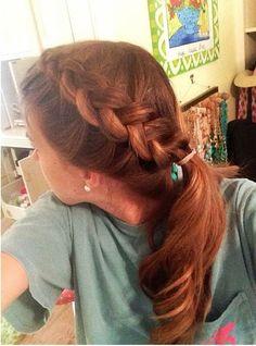 dutch braid & ponytail