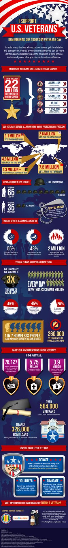 Great infographic reminding us why we support our veterans on veterans day.