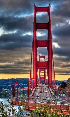 Golden Gate Bridge - San Francisco, California. Yes, it really is this beautiful.  I live here and it still amazes every time I drive on it.  A beautiful bridge in a beautiful city.