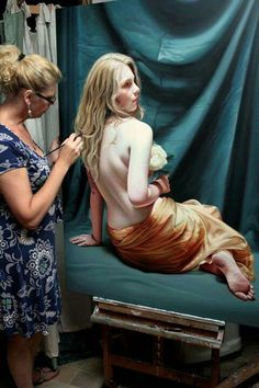 Hyperrealistic painting