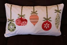 Keeping it simple: Christmas ornament pillow